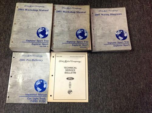 2001 Ford Explorer Sport Trac Service Shop Repair Manual