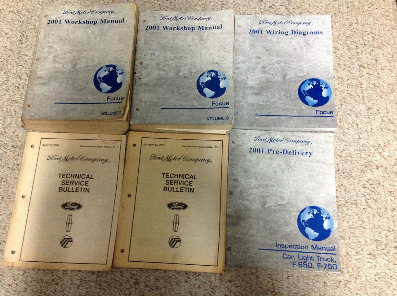 2001 Ford Focus Service Repair Shop Manual Set W Wiring Diagrams   Bulletins