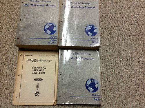 2001 Ford Taurus Mercury Sable Service Shop Repair Manual Set W Ewd   Technical