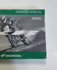 2002 HONDA XR650L Owners Operators Owner Manual Factory OEM Book NEW 2002