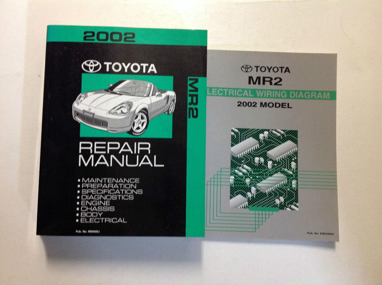 2002 Toyota Mr2 Mr 2 Service Repair Shop Manual Set W