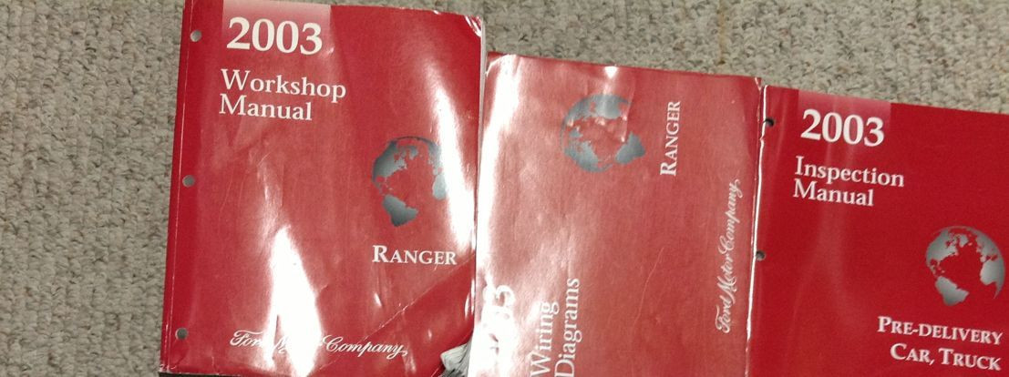 2003 Ford Ranger Truck Service Shop Repair Manual Set W