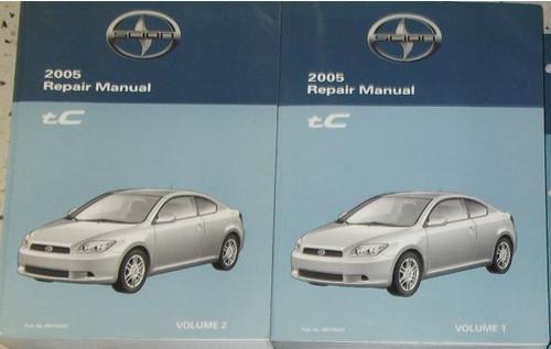2005 Toyota Scion Tc Tc T C Service Shop Repair Manual Set