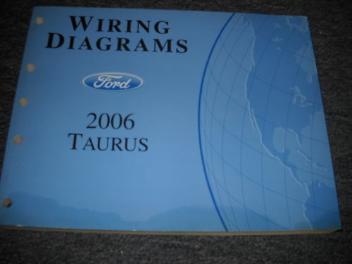 2006 Ford Taurus Electrical Wiring Diagrams Service Shop