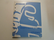 2007 Yamaha YZ125W1 Owners Service Repair Workshop Shop Manual FACTORY OEM 07 x