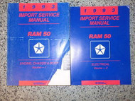 1993 Dodge Ram 50 Truck Service Repair Shop Manual Set 93 Factory Tear On Cover
