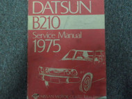 1975 Datsun B210 Service Repair Shop Workshop Manual OEM Book Factory x