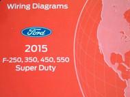 2015 Ford TRUCK F-250 F350 F250 450 550 Wiring Electrical Diagram Manual OEM NEW