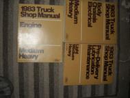 1983 FORD F&B 700 800 900 Medium Heavy Truck Service Shop Repair Manual Set