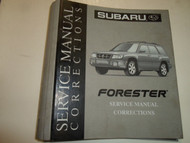 Subaru Service Manual Corrections BINDER ONLY W/TABS FACTORY OEM DEALERSHIP