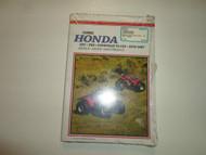 1970 1987 Clymer Honda ATC TRX FOURTRAX 70-125 Service Maintenance Manual NEW