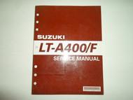 2002 Suzuki LT-A400/F Service Repair Manual MINOR STAINS FACTORY OEM BOOK 02