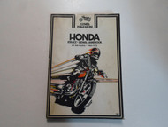 1965 1973 Clymer Honda 450 Models Service Repair Handbook Manual WATER DAMAGED