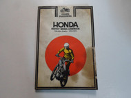 1970 1972 Clymer Honda 100 250cc Singles Service Repair Handbook Manual DAMAGED