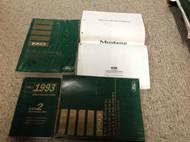 1993 FORD MUSTANG Service Shop Repair Manual Set W Wiring Diagram + Specs + Pr x