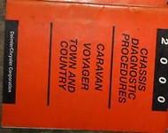2000 Dodge Caravan VAN Chassis Diagnostic Procedure Service Shop Manual OEM
