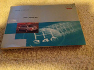 2001 AUDI A4 A 4 1.8L 2.8L Owners Operators Owner Manual FACTORY 2001 x OEM
