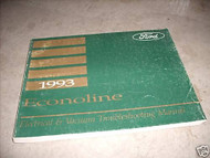 1993 Ford Econoline Electrical Wiring Diagram Troubleshooting Manual EVTM OEM