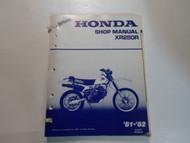 1981 1982 Honda XR250R Service Shop Repair Manual LOOSE LEAF MISSING COVERS OEM