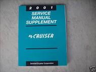 2001 Chrysler PT Cruiser Shop Service Repair Manual Supplement