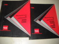 1993 GMC Jimmy & Sonoma Truck Service Shop Repair Manual SET W Electrical Book