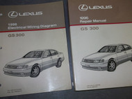 1996 Lexus GS300 GS 300 Service Shop Repair Manual SET DEALERSHIP 96 W EWD x