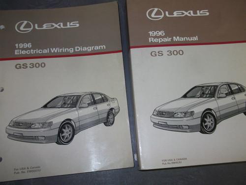 1996 Lexus Gs300 Gs 300 Service Shop Repair Manual Set