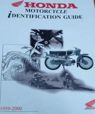 1977 1978 1979 1980 1981 1982 Honda Motorcycle Identification Guide Manual NEW