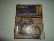 1973 Haynes Honda 400 550 FOURS 408cc 544cc Owners Workshop Manual DAMAGED STAIN