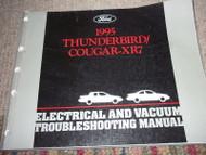1995 Ford Thunderbird Mercury Cougar XR-7 XR7 Wiring Diagrams Shop Manual OEM x