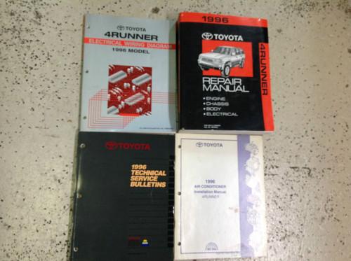 1996 Toyota 4runner 4 Runner Service Shop Repair Manual Set W Ewd  U0026 Ac Book   X