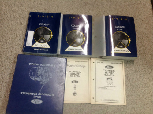 1999 Mercury Cougar Service Shop Repair Manual Set W Ewd