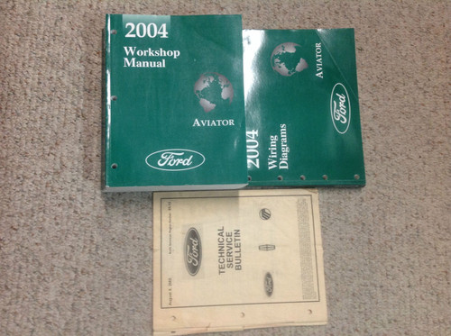 2004 Lincoln Aviator Truck Suv Service Shop Repair Manual Set W Ewd  U0026 Tech Bull