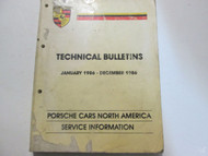 1986 Porsche Technical Bulletins Service Information Manual Factory OEM Used