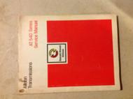 DETROIT DIESEL ALLISON TRANSMISSION AT 540 AT540 Series Service Shop Manual x