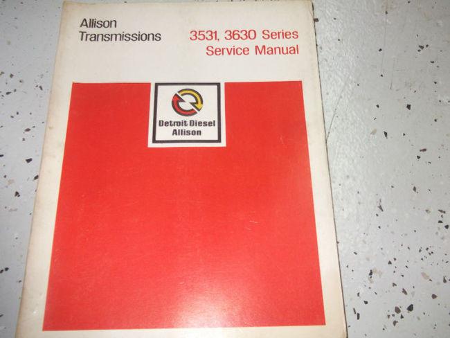 service manual allison transmission