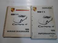 1989 Porsche 911 Carrera 4 Service Info Wiring Diagrams Manual 2 VOL SET WORN 89