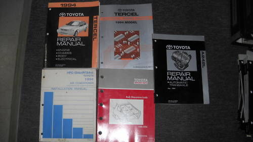 1994 Toyota Tercel Service Shop Repair Workshop Manual Set Oem W Lots