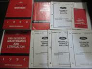 1994 FORD MUSTANG Service Shop Repair Workshop Manual Set W Tech Bulletins x OEM