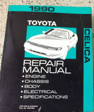 1990 Toyota Celica Service Repair Shop Workshop Manual FACTORY OEM 1990