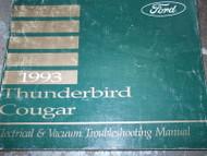 1993 Ford Thunderbird & Mercury Cougar Electrical Wiring Diagrams Shop Manual