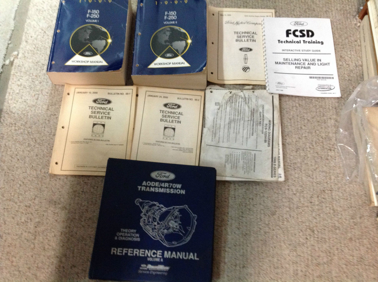 1999 Ford F-150 F150 Truck Service Shop Repair Manual Set W Ewd  U0026 Transaxle Oem