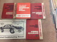 1978 GM Chevy Chevrolet Corvette Service Repair Shop Manual Set W Wiring Diagram