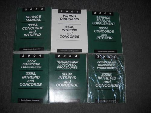 2004 Chrysler 300m Concorde Dodge Intrepid Service Shop Repair Manual Set W Lots