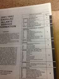 1991 Cadillac ALLANTE Service Shop Repair Manual Set W Product Publication + New