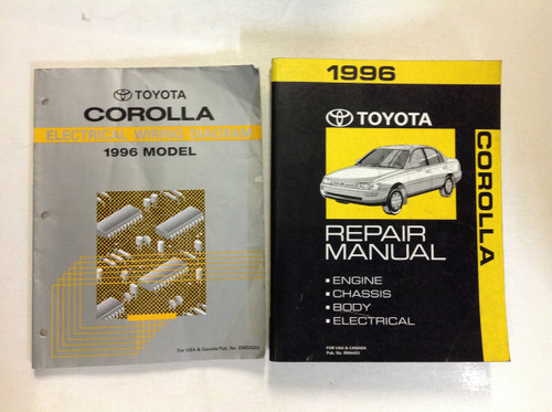 1996 Toyota Corolla Service Repair Shop Manual Factory Set