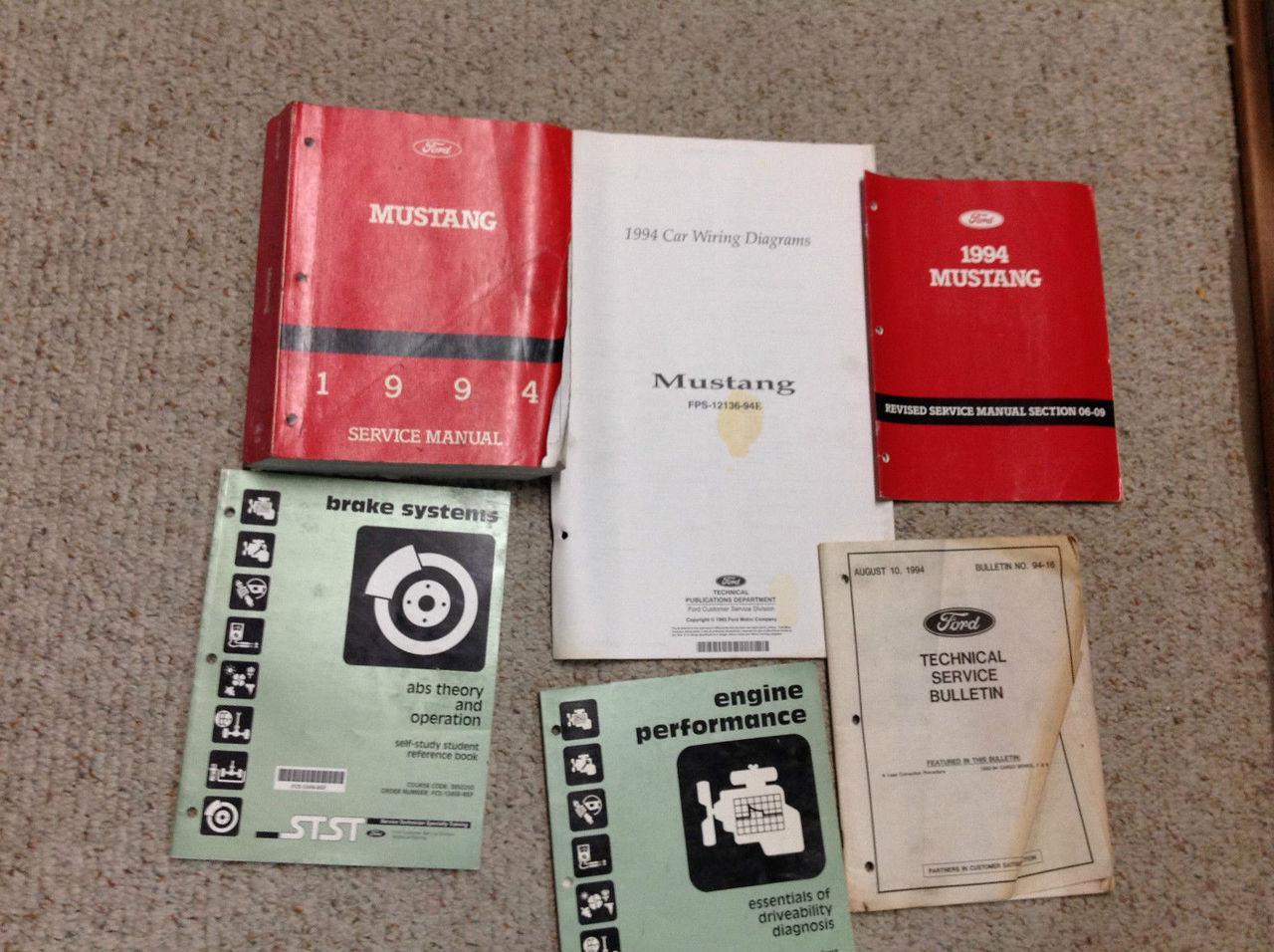 1994 Ford Mustang Service Shop Repair Manual Set Oem W Ewd