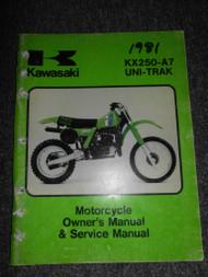 1981 Kawasaki KX250-A7 UNI-TRAK Repair Service Shop Owners Manual OEM FACTORY