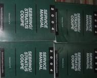 2004 CHRYSLER SEBRING DODGE STRATUS COUPE Service Repair Shop Manual Set 4 VOLUM