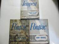 1961 GM Pontiac TEMPEST Service Repair Shop Manual 3 Volume Set Factory OEM Used